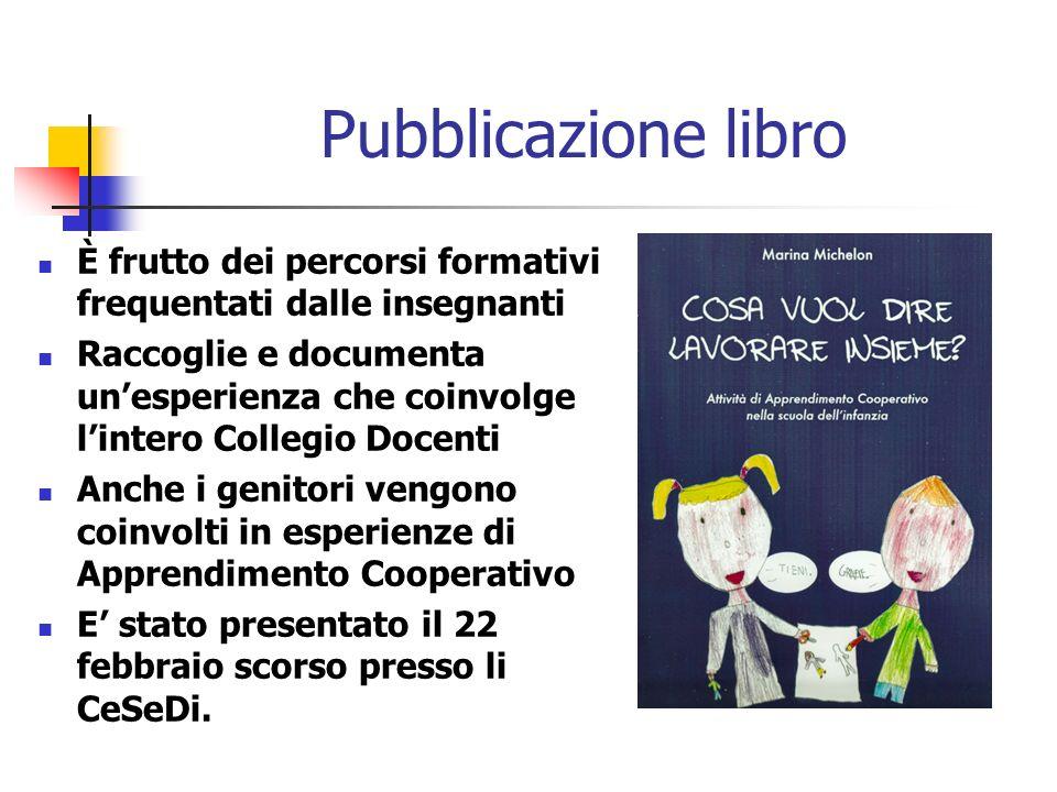 Pubblicazione libro È frutto dei percorsi formativi frequentati dalle insegnanti Raccoglie e documenta unesperienza che coinvolge lintero Collegio Doc