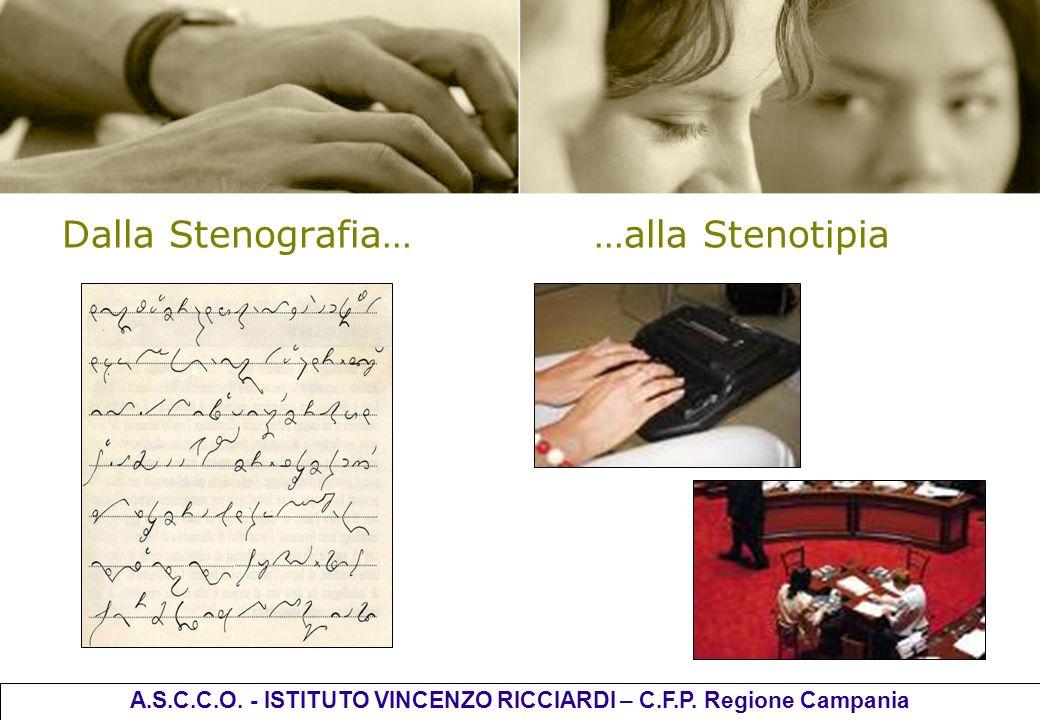 Dalla Stenografia……alla Stenotipia A.S.C.C.O. - ISTITUTO VINCENZO RICCIARDI – C.F.P. Regione Campania