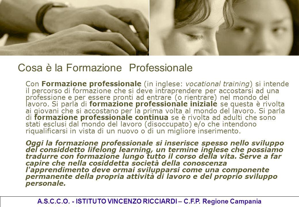 Cosa è la Formazione Professionale Con Formazione professionale (in inglese: vocational training) si intende il percorso di formazione che si deve int