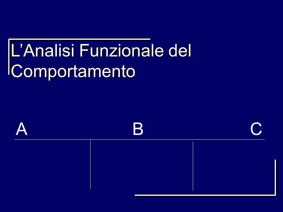 LAnalisi Funzionale del Comportamento A B C