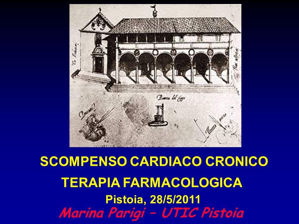 Marina Parigi – UTIC Pistoia SCOMPENSO CARDIACO CRONICO TERAPIA FARMACOLOGICA Pistoia, 28/5/2011