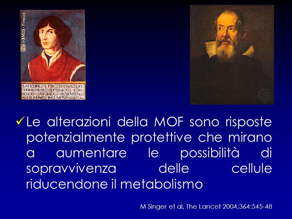 Le alterazioni della MOF sono risposte potenzialmente protettive che mirano a aumentare le possibilità di sopravvivenza delle cellule riducendone il m