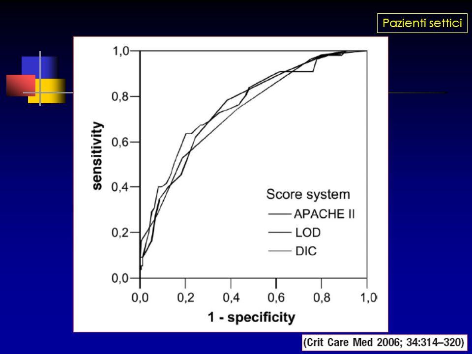 La sepsi come patologia del microcircolo Il sistema della PC ha la sua massima importanza a livello del microcircolo, che è fondamentale nella sepsi infatti a questo livello la concentrazione di trombomodulina è circa 500 nmol/l, contro 0.1-0.2 nmol/l nel macrocircolo (!) Trombina viene quindi rapidamente rimossa dal microcircolo dal sistema TM/APC Esmon CT et al, Critical Care 2001;5(Suppl 2):S7-S12