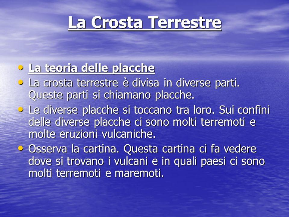 La Crosta Terrestre La teoria delle placche La teoria delle placche La crosta terrestre è divisa in diverse parti.