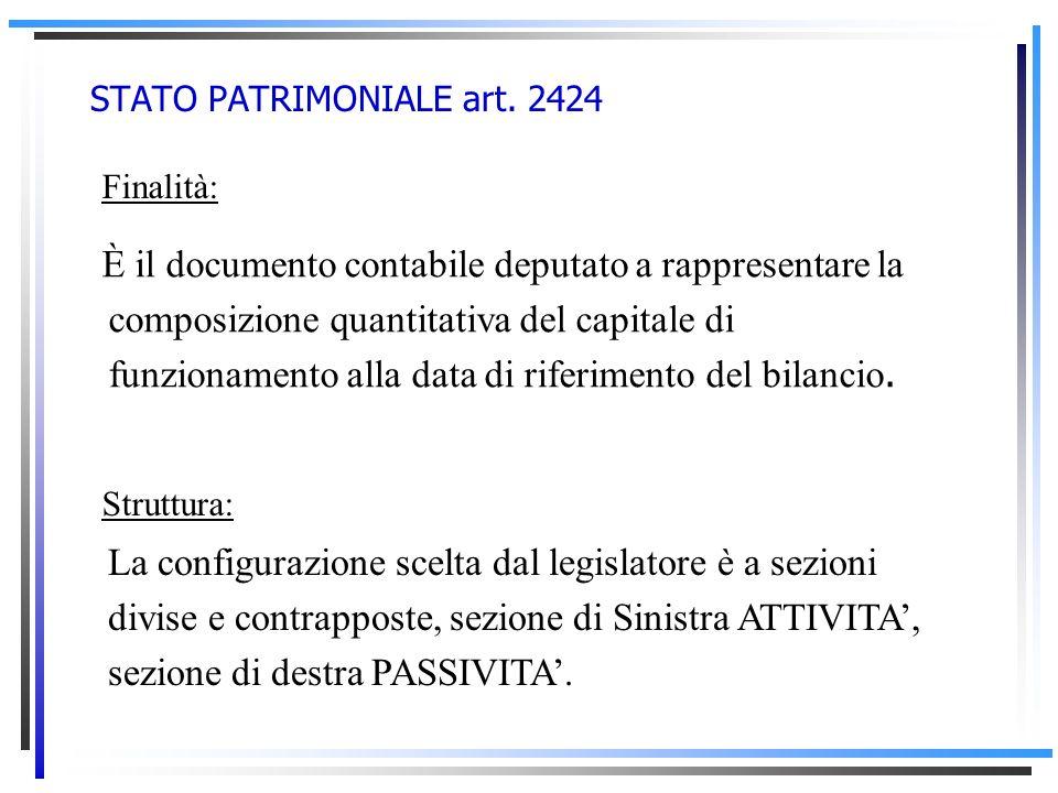 STRUTTURA E CONTENUTO DEL BILANCIO DESERCIZIO Il bilancio desercizio è costituito da tre documenti, due quantitativo-contabili (stato patrimoniale e c