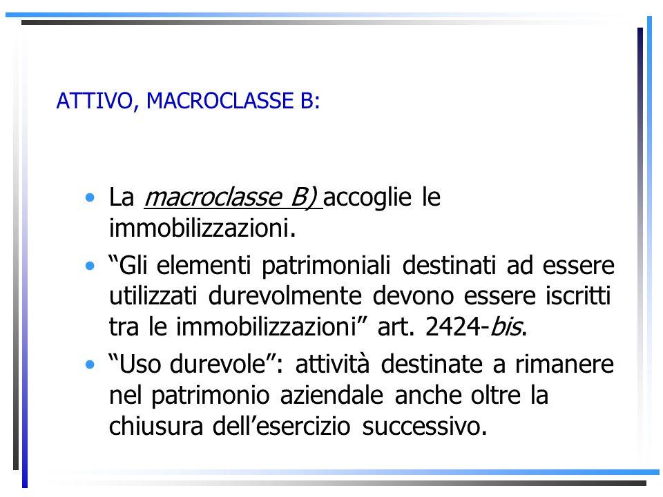 ATTIVO, MACROCLASSE A: La macroclasse A) evidenzia i crediti verso soci derivanti da sottoscrizioni del capitale sociale a fronte delle quali non è an