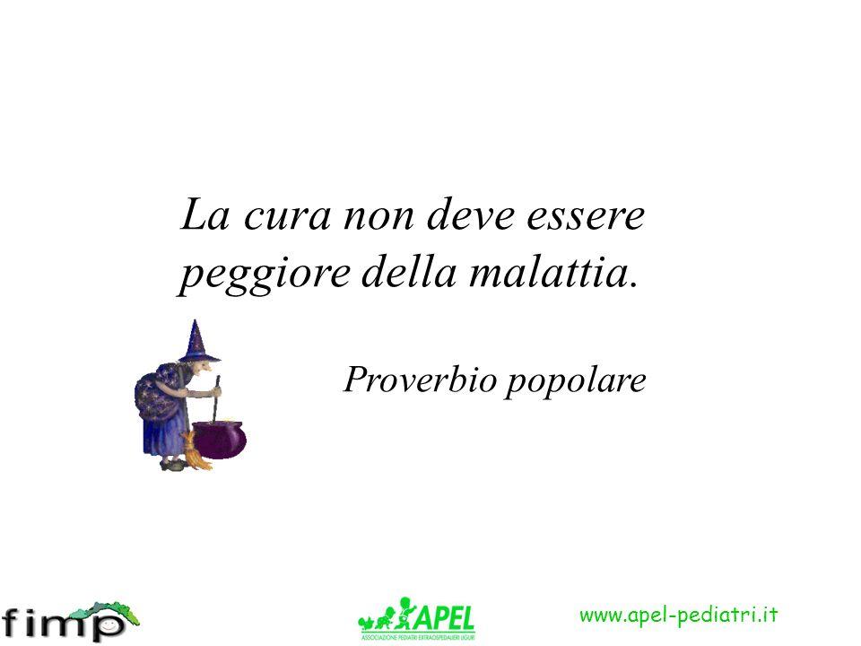 www.apel-pediatri.it La cura non deve essere peggiore della malattia. Proverbio popolare