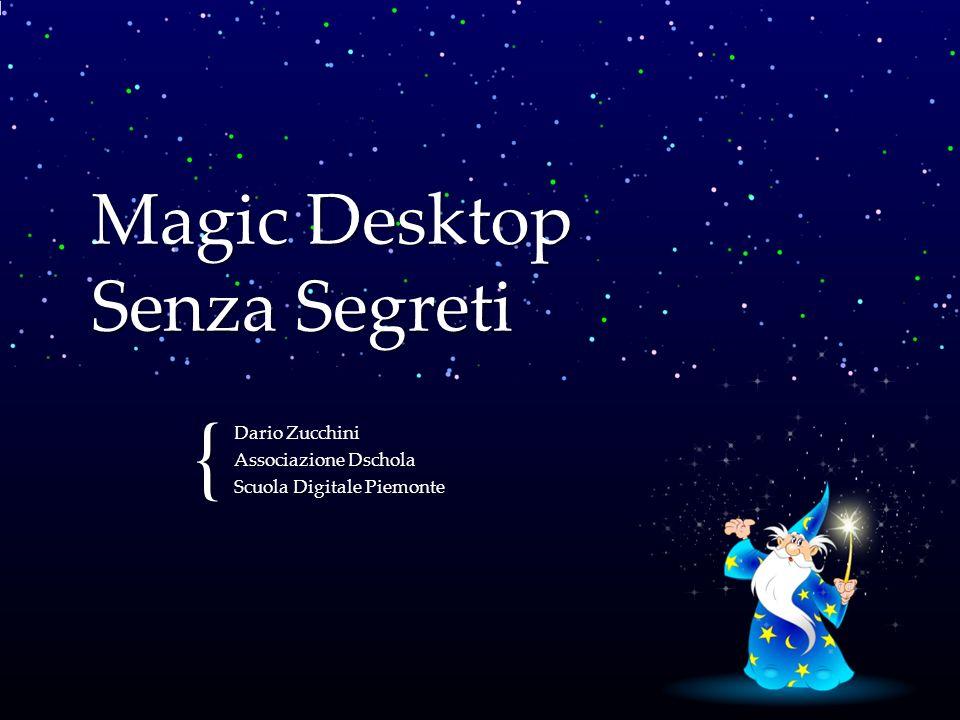 { Magic Desktop Senza Segreti Dario Zucchini Associazione Dschola Scuola Digitale Piemonte