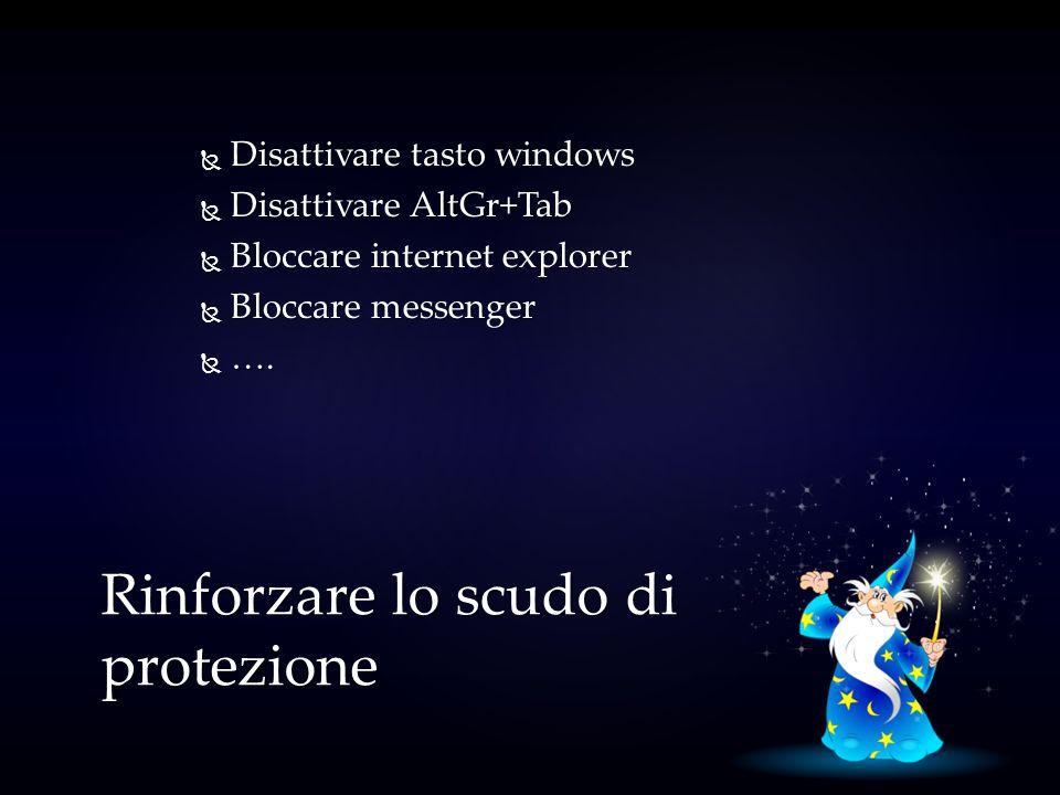 Disattivare tasto windows Disattivare tasto windows Disattivare AltGr+Tab Disattivare AltGr+Tab Bloccare internet explorer Bloccare internet explorer