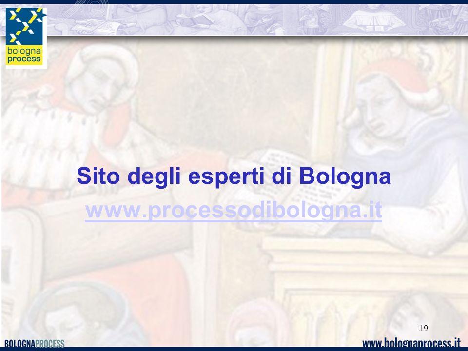 Sito degli esperti di Bologna www.processodibologna.it 19