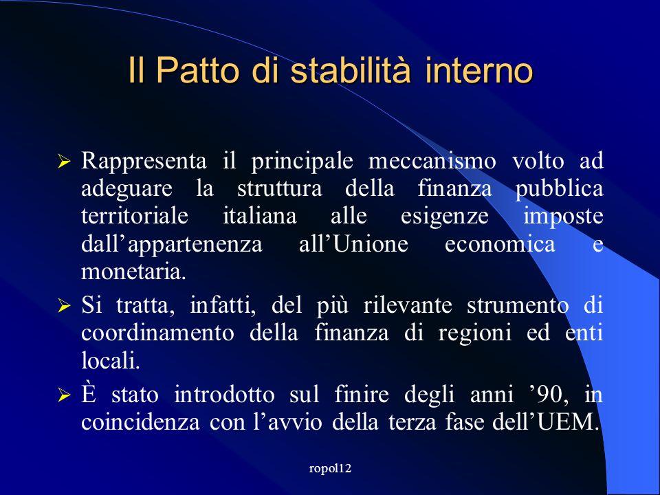 ropol12 Il Patto di Stabilità dei Comuni per il triennio 2012-2014.
