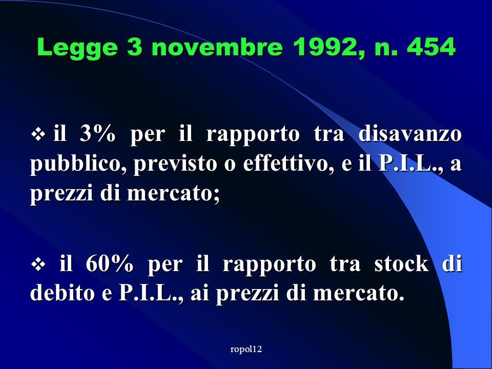ropol12 Legge 3 novembre 1992, n.
