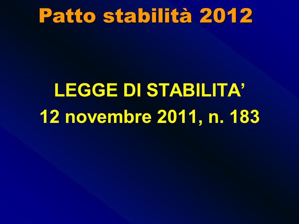 ropol12 PATTO DI STABILITA 2012 - 2014