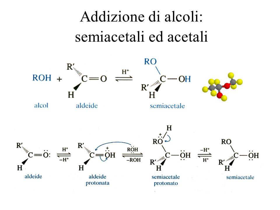 Addizione di alcoli: semiacetali ed acetali