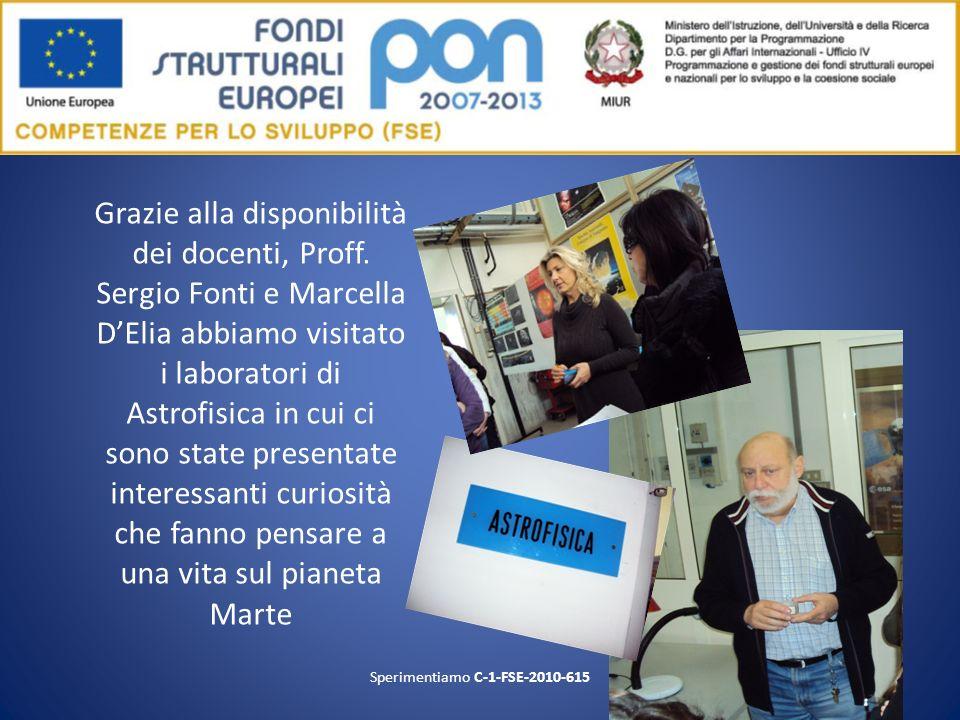 Grazie alla disponibilità dei docenti, Proff. Sergio Fonti e Marcella DElia abbiamo visitato i laboratori di Astrofisica in cui ci sono state presenta