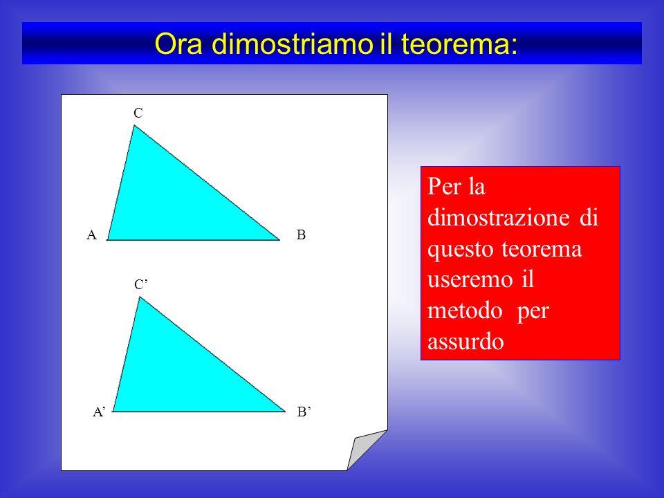 Abbiamo così osservato come, utilizzando questi tre dati solamente, si possa costruire un triangolo e uno solo…..
