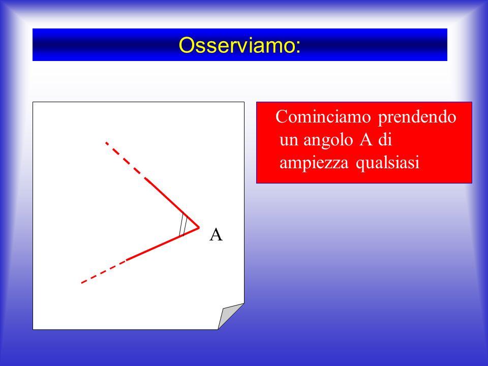 Se due triangoli hanno rispettivamente congruenti due angoli e il lato tra essi compreso, essi sono congruenti Il secondo criterio dice :