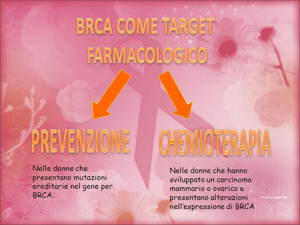 Nelle donne che presentano mutazioni ereditarie nel gene per BRCA. Nelle donne che hanno sviluppato un carcinoma mammario o ovarico e presentano alter