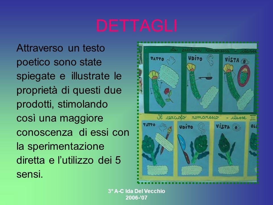 3° A-C Ida Del Vecchio 2006-07 DETTAGLI Attraverso un testo poetico sono state spiegate e illustrate le proprietà di questi due prodotti, stimolando c