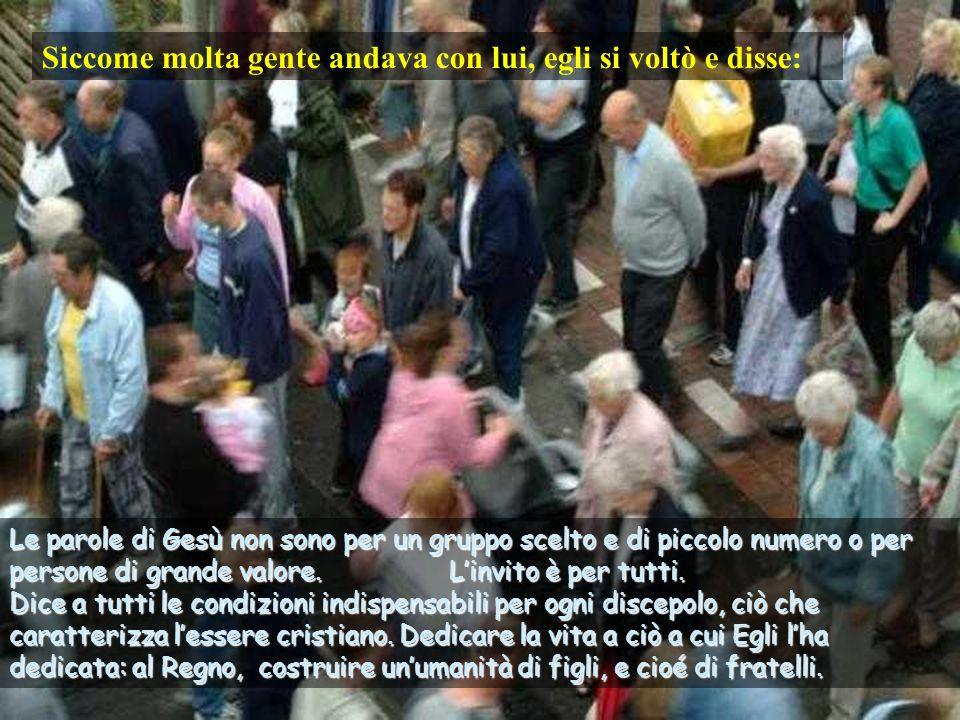 Testo; Luca 14, 25-33 – 23 Tempo Ordinario –C- Commenti e presentazione Asun Gutiérrez.