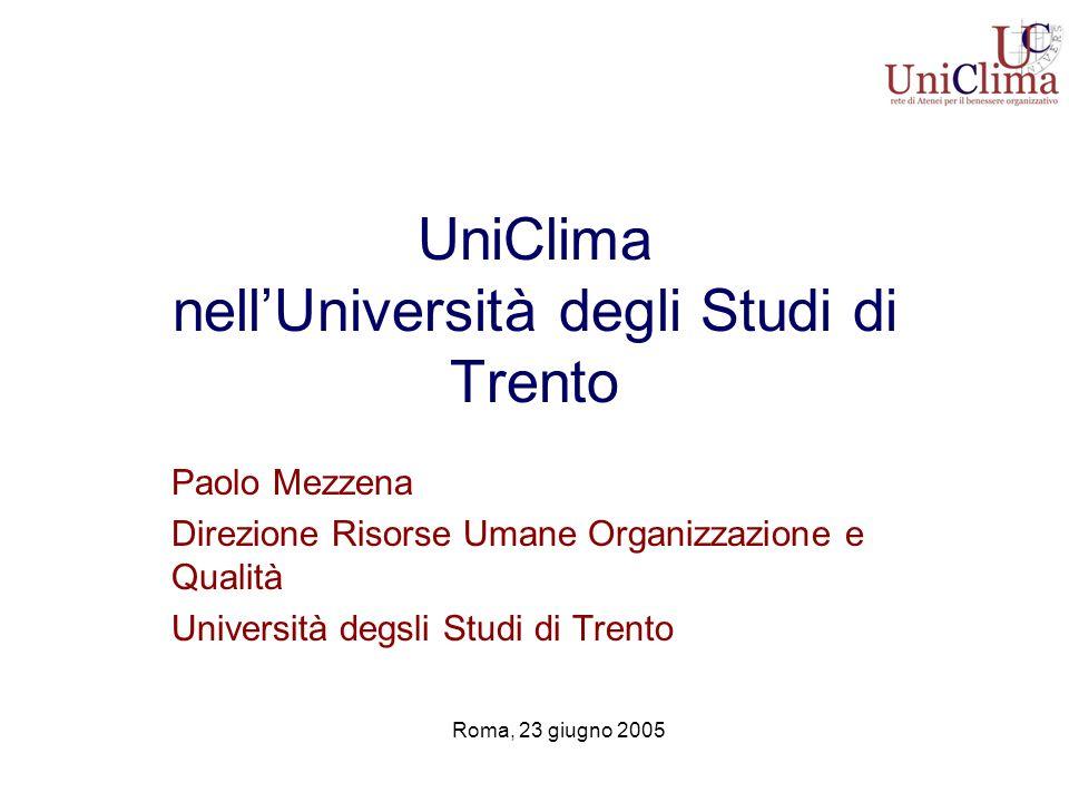 2 UniClima: quale contesto.
