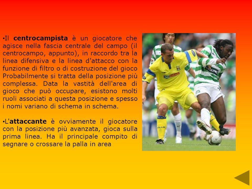 Il centrocampista è un giocatore che agisce nella fascia centrale del campo (il centrocampo, appunto), in raccordo tra la linea difensiva e la linea d