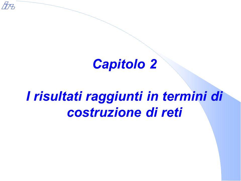 Capitolo 2 I risultati raggiunti in termini di costruzione di reti