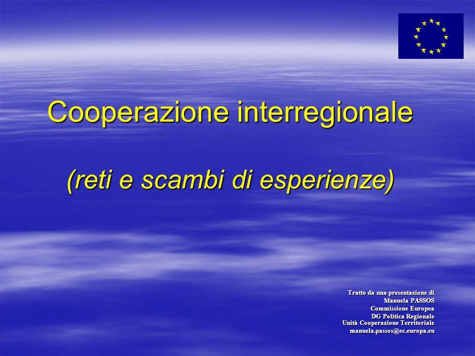 Cooperazione interregionale (reti e scambi di esperienze) Cooperazione interregionale (reti e scambi di esperienze) Tratto da una presentazione di Man