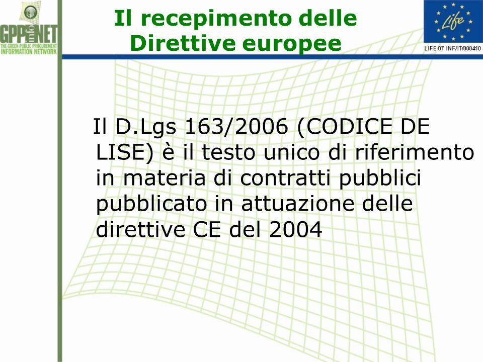 Il D.LGS 163/2006 Art.2: Principi 2.