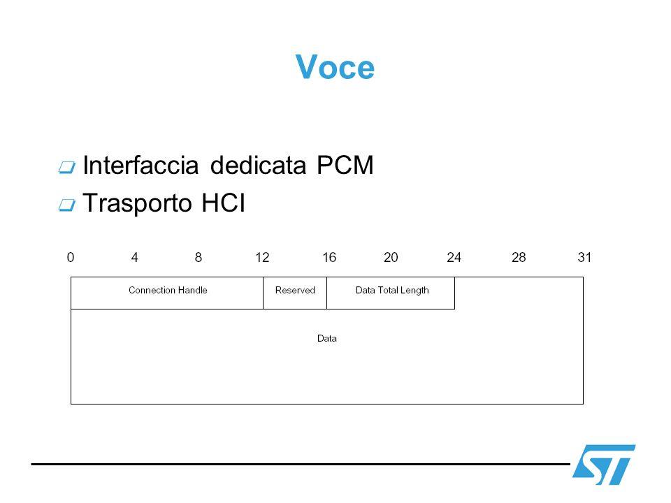 Voce Interfaccia dedicata PCM Trasporto HCI