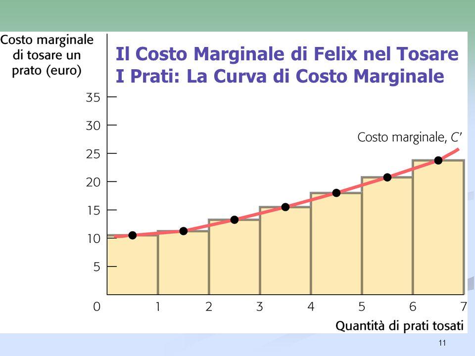 12 Il Beneficio Marginale Il beneficio marginale di unattività è il beneficio aggiuntivo derivante dallintraprendere una unità addizionale dellattività.