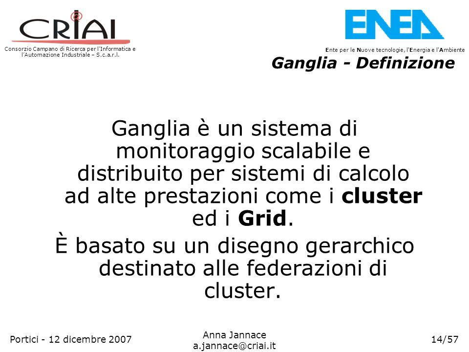 Consorzio Campano di Ricerca per lInformatica e lAutomazione Industriale – S.c.a.r.l. 14/57 Ente per le Nuove tecnologie, l'Energia e l'Ambiente Anna