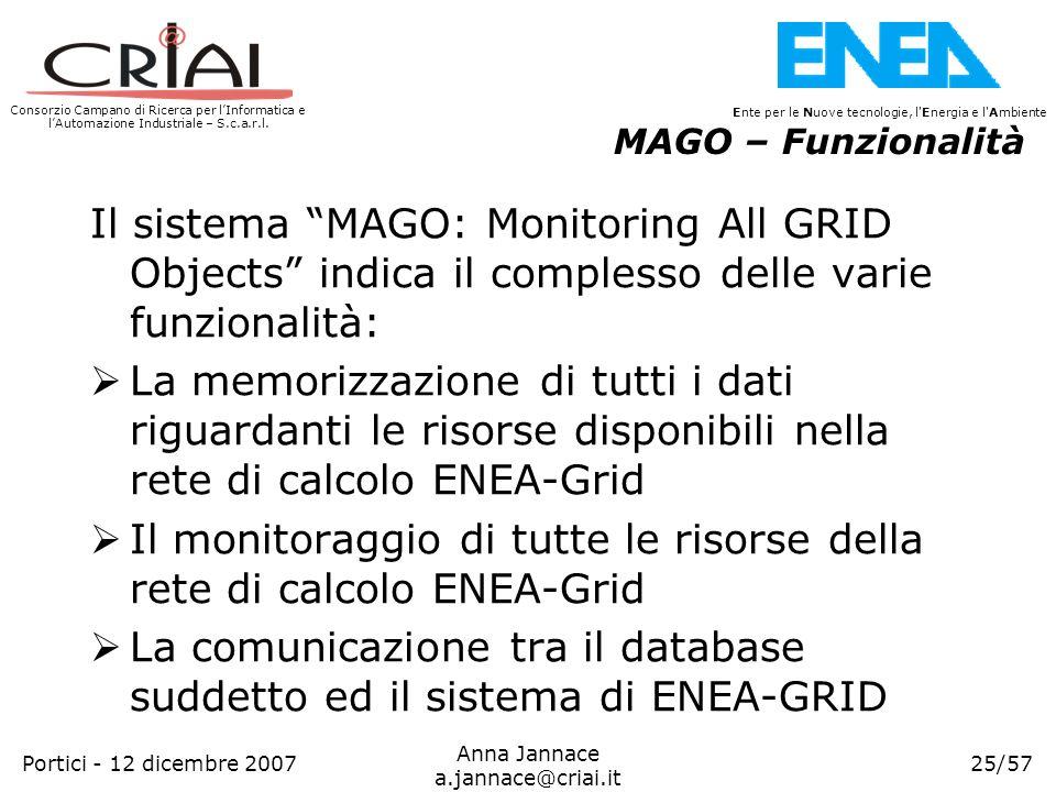 Consorzio Campano di Ricerca per lInformatica e lAutomazione Industriale – S.c.a.r.l. 25/57 Ente per le Nuove tecnologie, l'Energia e l'Ambiente Anna