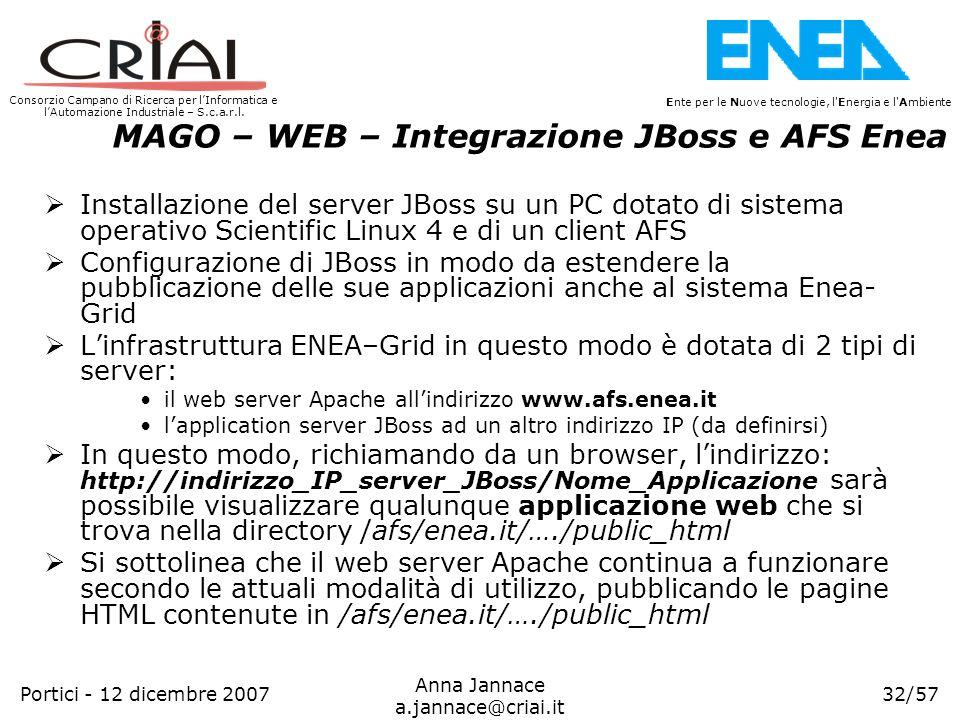 Consorzio Campano di Ricerca per lInformatica e lAutomazione Industriale – S.c.a.r.l. 32/57 Ente per le Nuove tecnologie, l'Energia e l'Ambiente Anna