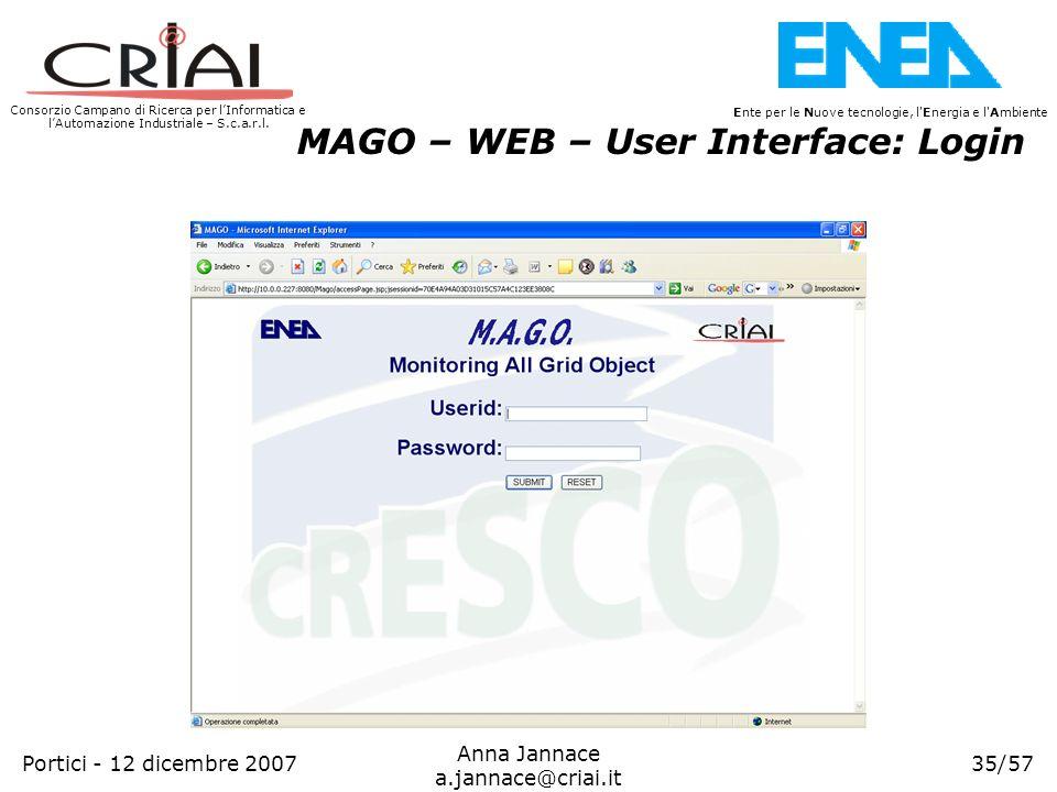 Consorzio Campano di Ricerca per lInformatica e lAutomazione Industriale – S.c.a.r.l. 35/57 Ente per le Nuove tecnologie, l'Energia e l'Ambiente Anna
