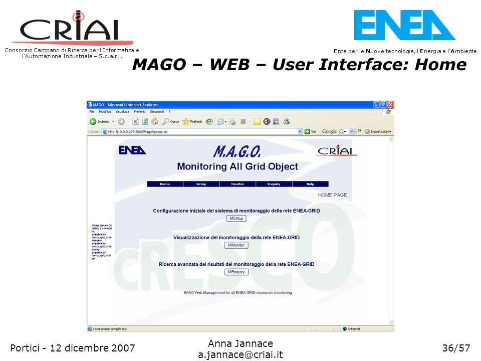 Consorzio Campano di Ricerca per lInformatica e lAutomazione Industriale – S.c.a.r.l. 36/57 Ente per le Nuove tecnologie, l'Energia e l'Ambiente Anna
