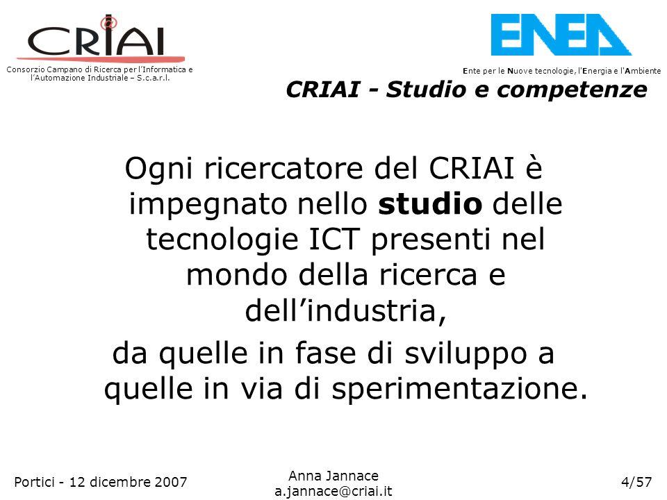 Consorzio Campano di Ricerca per lInformatica e lAutomazione Industriale – S.c.a.r.l. 4/57 Ente per le Nuove tecnologie, l'Energia e l'Ambiente Anna J