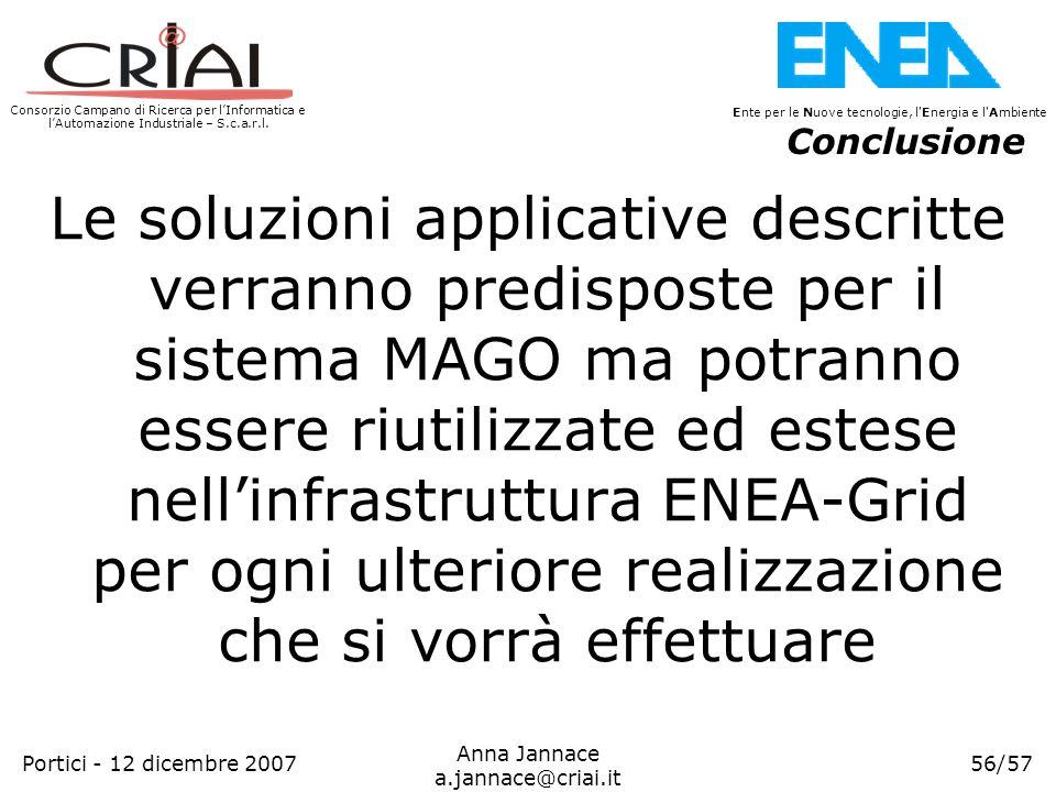 Consorzio Campano di Ricerca per lInformatica e lAutomazione Industriale – S.c.a.r.l. 56/57 Ente per le Nuove tecnologie, l'Energia e l'Ambiente Anna