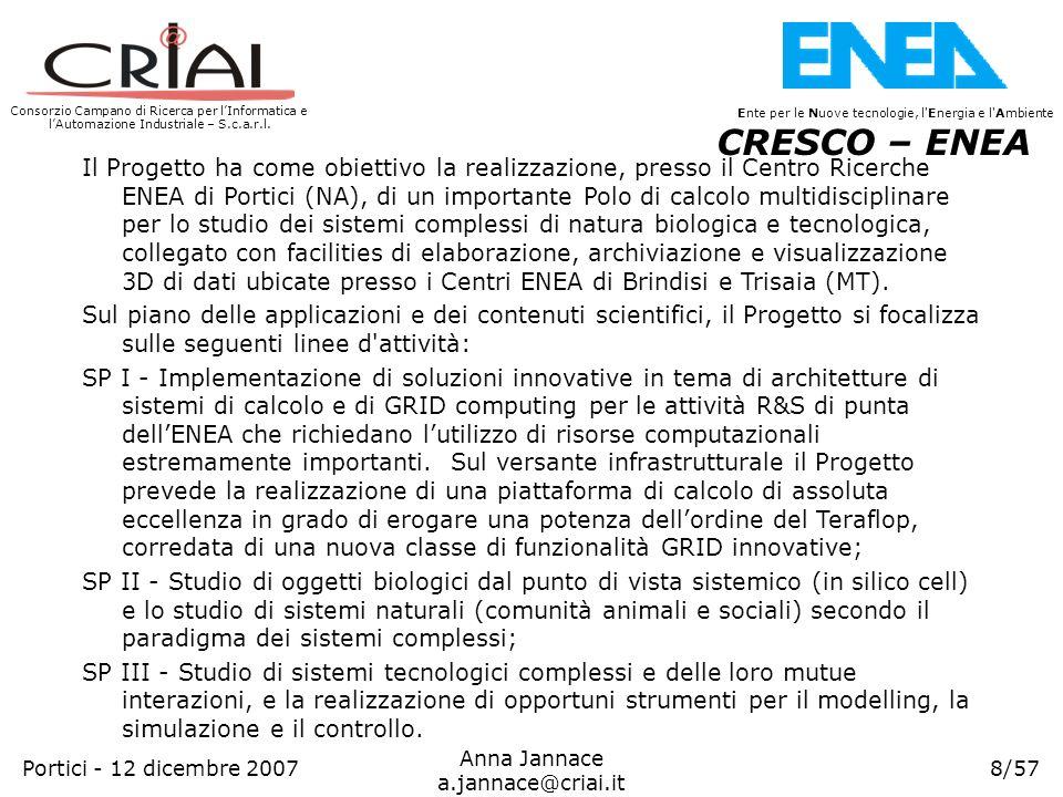 Consorzio Campano di Ricerca per lInformatica e lAutomazione Industriale – S.c.a.r.l. 8/57 Ente per le Nuove tecnologie, l'Energia e l'Ambiente Anna J