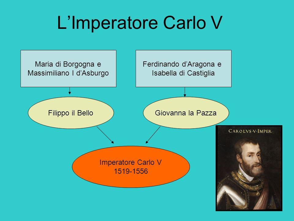 LImperatore Carlo V Maria di Borgogna e Massimiliano I dAsburgo Ferdinando dAragona e Isabella di Castiglia Filippo il BelloGiovanna la Pazza Imperato