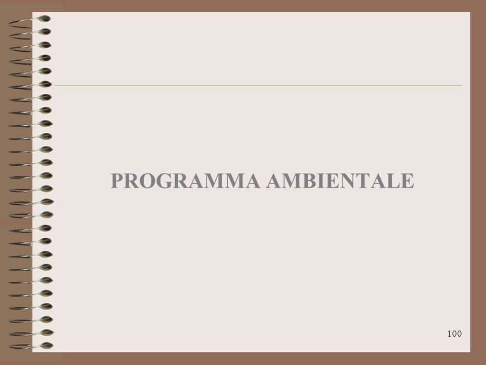 100 PROGRAMMA AMBIENTALE