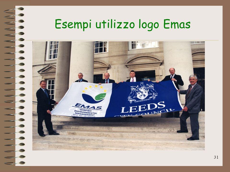31 Esempi utilizzo logo Emas