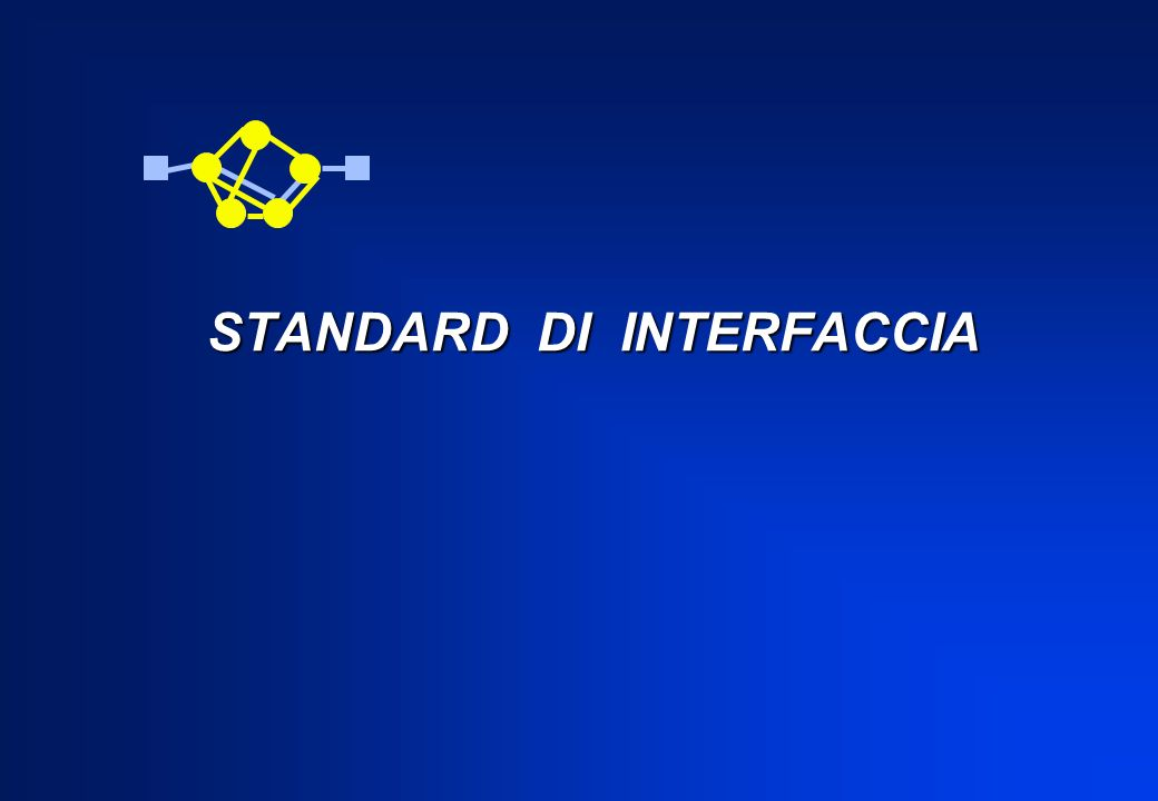 Riprendendo la definizione CCITT di una rete ISDN : …è una rete per la fornitura di una vasta gamma di servizi ai quali accedere attraverso delle interfacce utente-rete normalizzate Abbiamo introdotto i Raggruppamenti Funzionali: NT1, NT2 (Terminazioni di Rete) TE1, TE2 (Apparecchio Terminale) TA (Adattatore di Terminale per una rete ISDN
