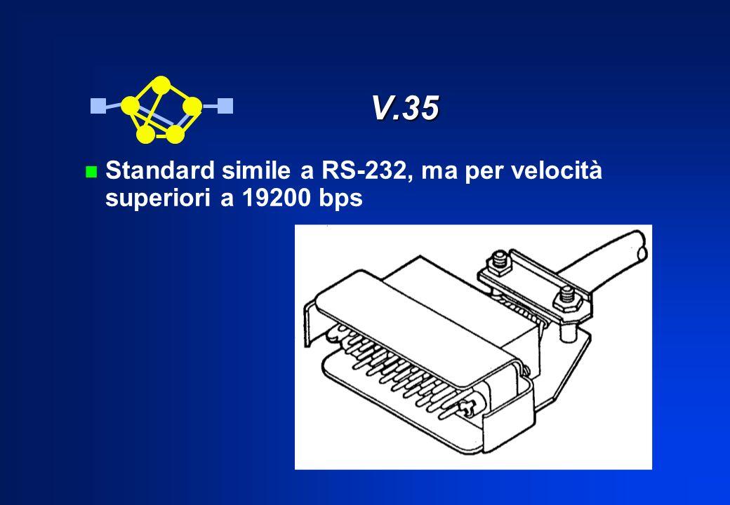 V.35 n Standard simile a RS-232, ma per velocità superiori a 19200 bps