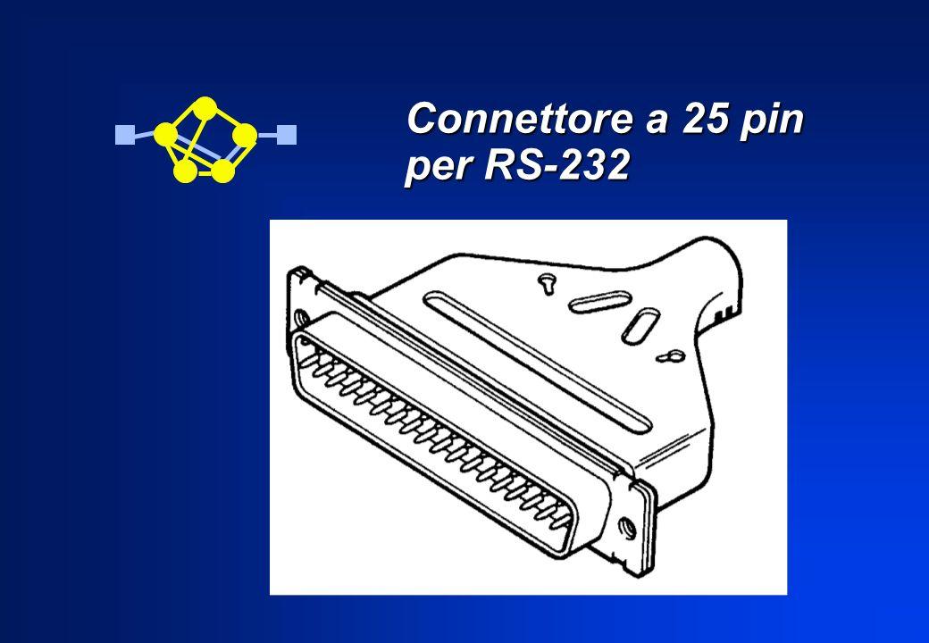 LRS-232 specifica 25 circuiti, ma molto spesso soltanto una piccola parte di essi servono per le comuni applicazioni pratiche.