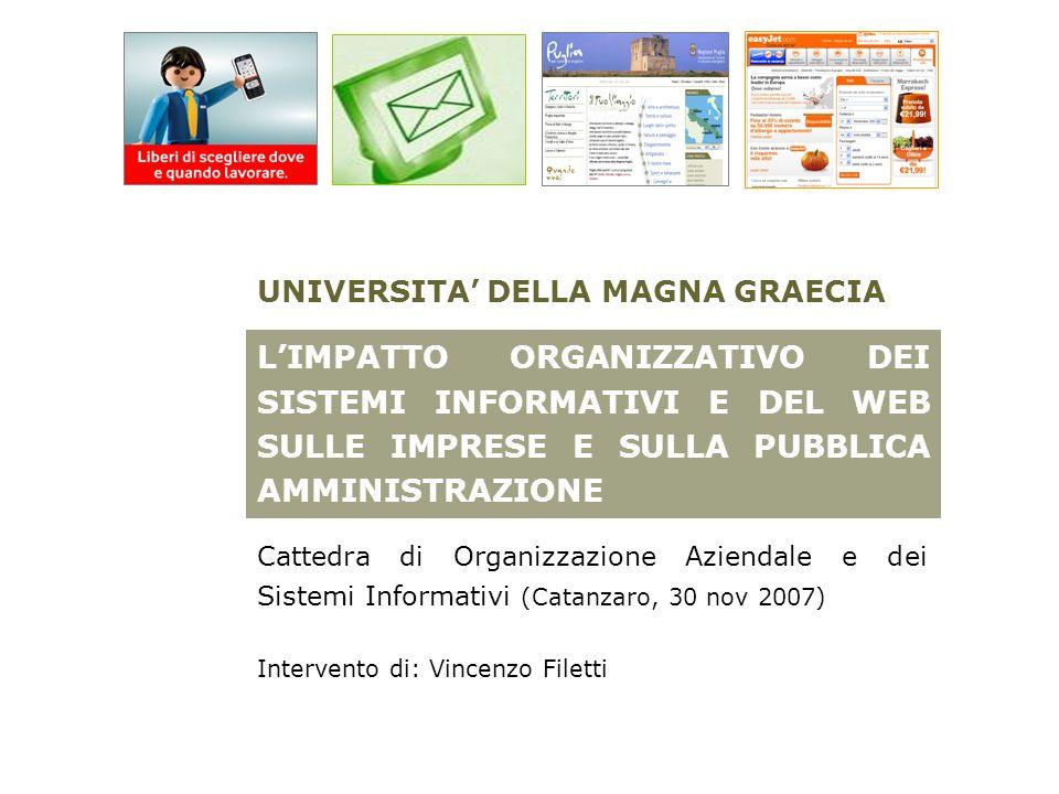 Catanzaro, 30 novembre 2007 – Università degli Studi Magna Graecia – Organizzazione Aziendale e dei Sistemi Informativi Vincenzo Filetti - v.filetti@retecamere.it – vincenzo1974@gmail.com - SKYPE: vincenzo.filetti1974 (Free copyright: citare fonte)v.filetti@retecamere.itvincenzo1974@gmail.com 2 LINTERVENTO SI ARTICOLA NELLE SEGUENTI FASI: 1.
