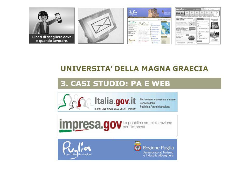 3. CASI STUDIO: PA E WEB UNIVERSITA DELLA MAGNA GRAECIA