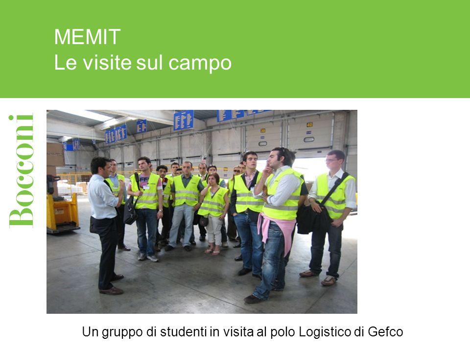 MEMIT Le visite sul campo Un gruppo di studenti in visita al polo Logistico di Gefco
