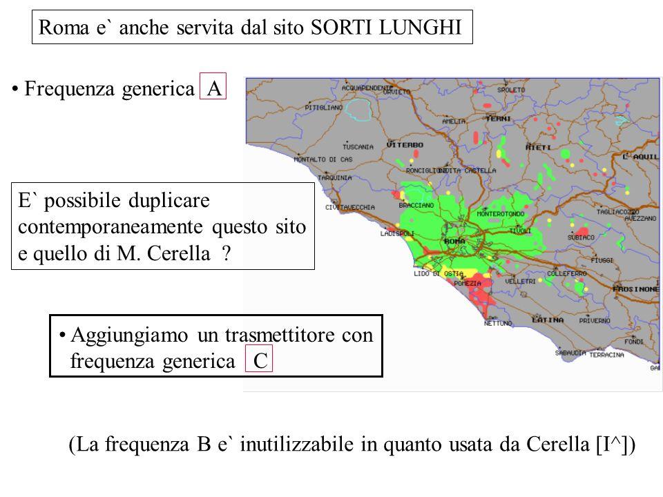 Roma e` anche servita dal sito SORTI LUNGHI Frequenza generica A E` possibile duplicare contemporaneamente questo sito e quello di M. Cerella ? Aggiun