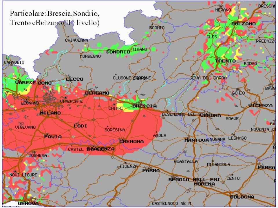 Particolare: Brescia,Sondrio, Trento eBolzano (II^ livello)